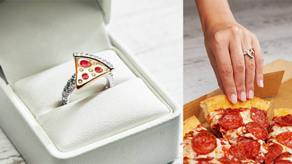 Domino's wants you to propose with this pizza diamond ring