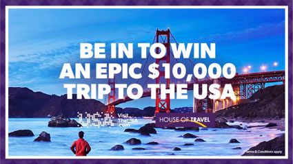 Be In To Win A $10,000 Trip To The USA!