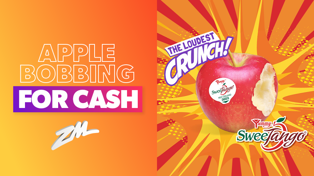 Apple Bobbing For Cash