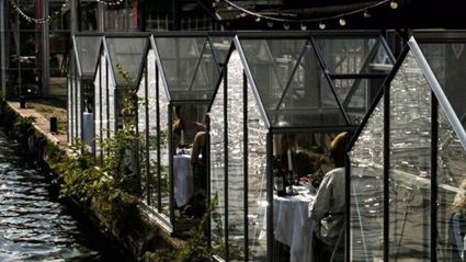 Amsterdam just opened a social distance friendly greenhouse restaurant