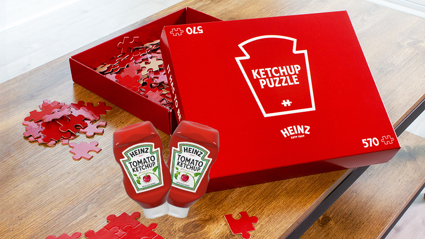 Heinz Ketchup just released an entirely red puzzle to keep us busy