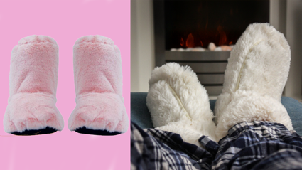 Microwave slippers exist and will save your cold feet this winter