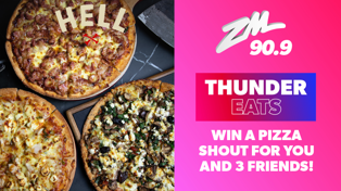 Wellington: ZM Thunder Eats with Hell Pizza