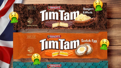 Tim Tam just announced crazy new 'British' flavours and we're honestly disgusted