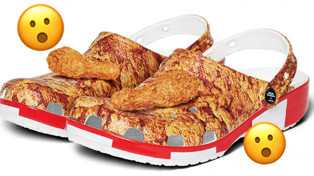 KFC Crocs now exist and they smell like fried chicken!