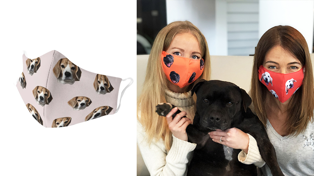You can now get custom face masks with your pet on them!