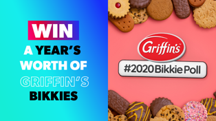 WIN a years worth of Griffins Bikkies