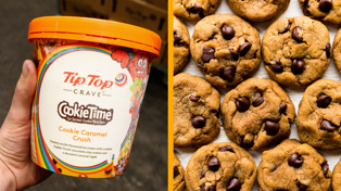 Tip Top and Cookie Time just released an epic new ice cream flavour