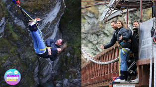 Bree and Clint do their first ever bungy jump in Queenstown!