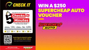 WIN: SUPERCHEAP AUTO'S 5 CHECKS IN 5 MINUTES
