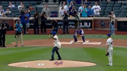 50 Cent Throws The Worst Pitch Ever