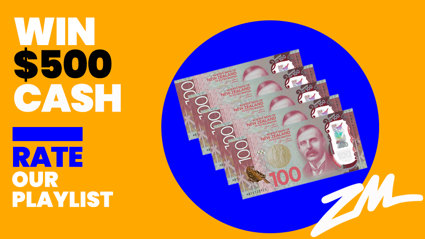 Rate our playlist and you could win $500 cash!