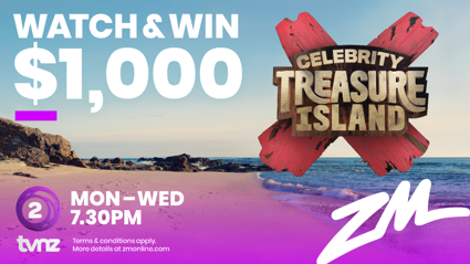 WATCH TO WIN $1,000 WITH CELEBRITY TREASURE ISLAND!